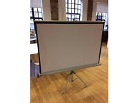 PROJECTOR SCREEN ON STAND - NOBO ACCO PRO 150T - RETRO