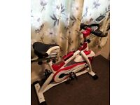 Very Fairly Used, Excercise Bike. Price:£219.99 LCD display shows your Speed,Distance,Time,Calories.