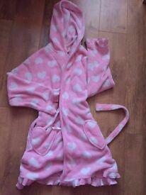 Pink pajama coat 12-14yrs