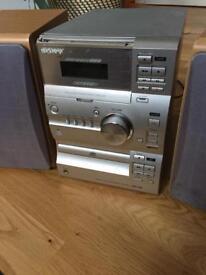 Sony stereo, CD player, radio