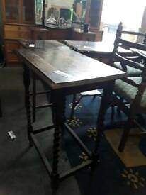 Wooden hallway table