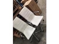 2 white leather office chairs *Vgc* reduced price