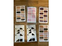 22 Tips/Sheet Fashion Nail Stickers Minimalist Design Loveliness Manicure Decoration Nail Art Sticke
