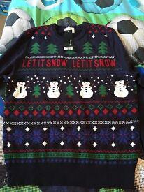 Men's Christmas jumper brand new