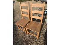 2 x beach dining chairs
