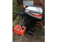 2005 Mariner 15hp Fourstroke Shortshaft Outboard Engine For RIB Boat Inflatable