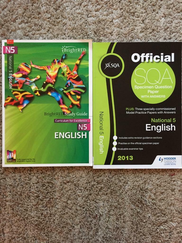 National 5 English study guide and past papers SQA