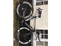 Cannondale slice hi-mod 51cm with zipp and HED wheels complete TT or ironman bike