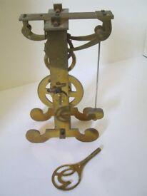 Clock ecapement Galileo model in Brass and Steel.