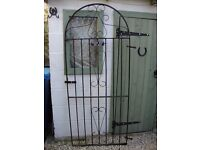 Wrought Iron Arched Garden Gate.