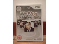 Ninendo Wii - 5 games including Robbie Williams & Michael Jackson + microphone - see photos