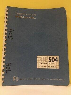 Tektronix 070-244 Type 504 Cathode-ray Oscilloscope Instruction Manual