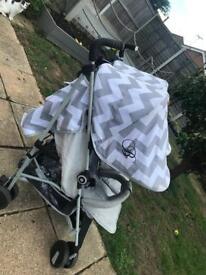Grey my babiiee double stroller. £120