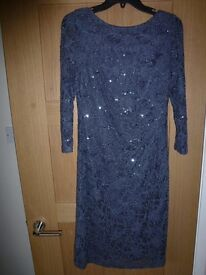 Eliza J all over sequin lace shift dress -grey. BNWT