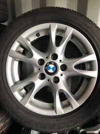 """BMW 1 series 16"""" alloys tyres genuine Set of four"""