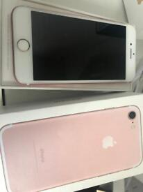 Apple iPhone 7 rose gold boxed EE network