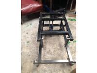 Pool table trolley hydraulic