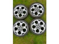 """5 x 108 Mondeo 18"""" 225 40 18 continental tyres just refurbished"""