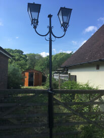 Victorian Style Double Lamp Post - Garden/Driveway