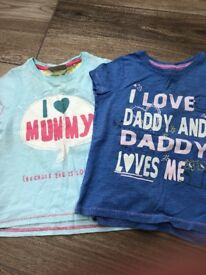 Next girls t-shirts 18 - 24 months