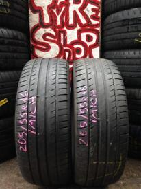 2x205/55/16 Michelin tyres