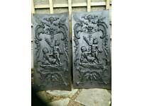 Cast iron fireplace side panels