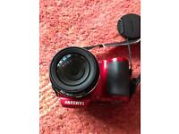 Samsung WB100 digital camera with case, strap and SD card