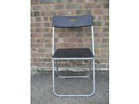 Sturdy foldaway computer /childs chair - colour black with silver frame