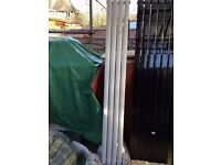 WHITE VERTICAL DOUBLE OVAL TUBED RADIATOR WITH BOTTOM INLET 1780MM X 236MM (1447)