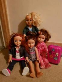 4 designer Friend Dolls