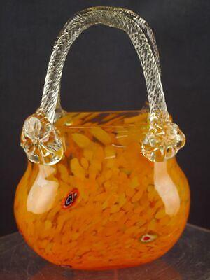 orange Glasvase Handtasche Taschenform Vase Tischvase Blumenvase [1905-149]