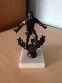 Bronze Football Trophy on Marble Base