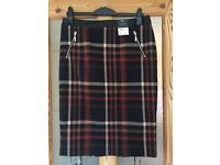 BNWT checked skirt size 14
