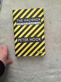 Peter Hook Hacienda How Not to Run a Club Hard Back Book Christmas Gift Excellent Like New Condition