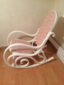 Upcycled vintage rocking chair