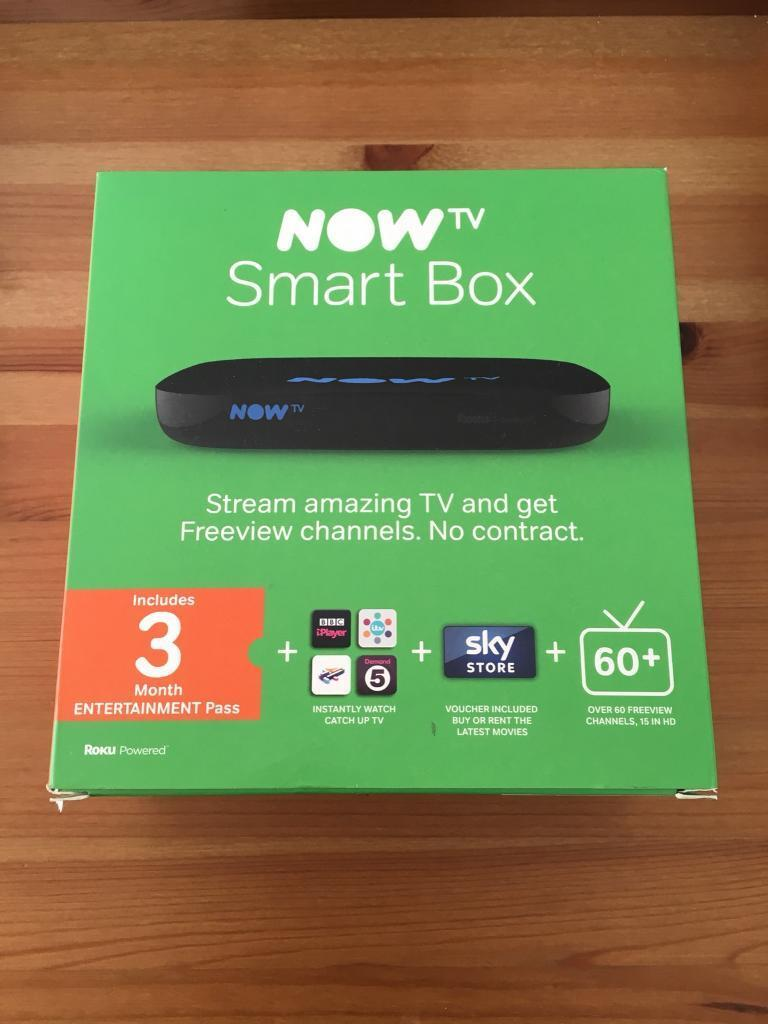 Now TV Smart Box with 3 month entertainment pass (new)