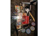 XBOX 360 + 13 Games + instruments