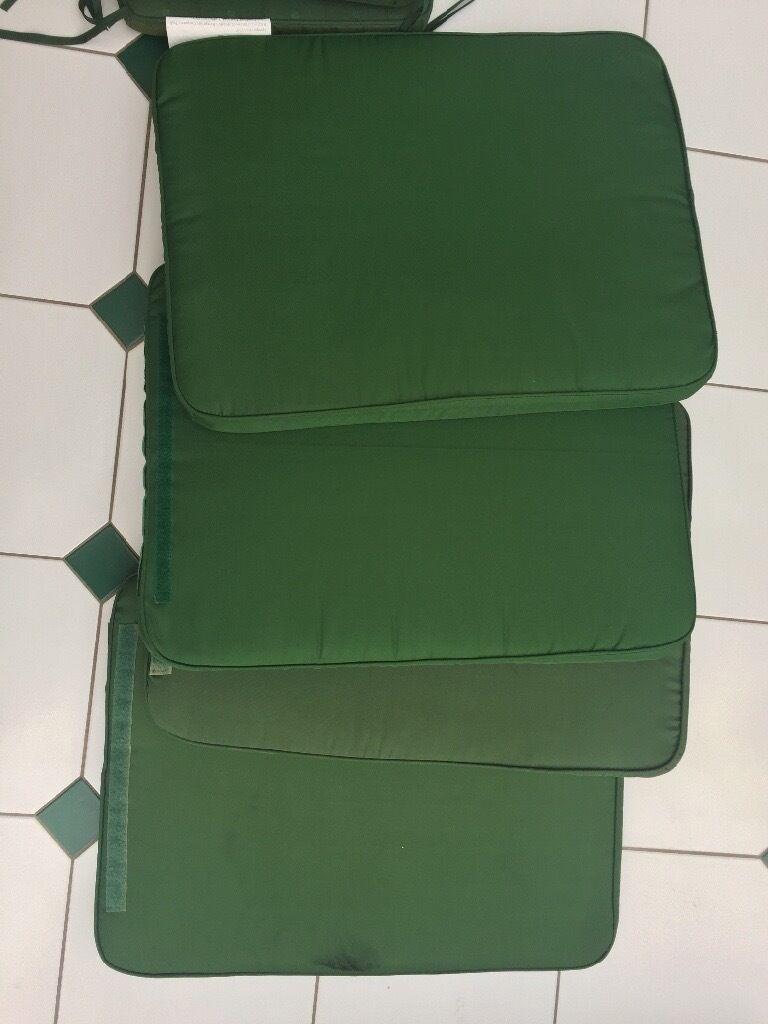 Green garden furniture lounger cushions set B Q 14pc  Image 1 of 7. Green garden furniture lounger cushions set B Q 14pc   in Bookham