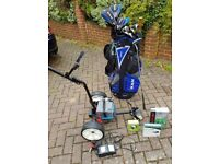Complete Golf set including electric trolley