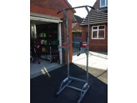 Max strength chin up bar with dips bar also! Fully built