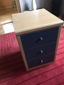Bed side table and chest of draws