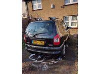 Vauxhall zafira 2.0dti metallic black with alloys