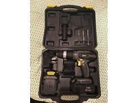 Accu (hammer)drill, screwdriver + 15pcs drill set