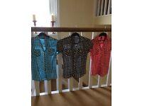 3 gingham shirts, size 6