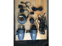Metz BL-200 Studio Flash Heads x2. Come with wireless sync adapters.