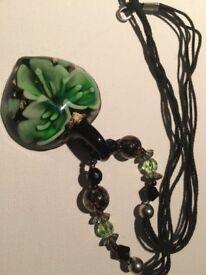 Women's Irish glass necklace
