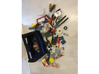 Tool box with bits and pieces for sale.
