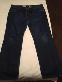 38 inch regular White Stuff navy jeans