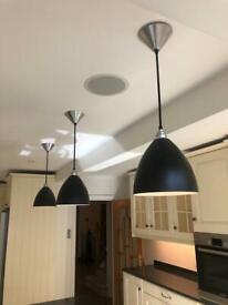Designer Kitchen Pendant Light x 3 RRP £259 each