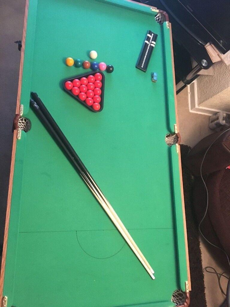 Pool table 5ft folding
